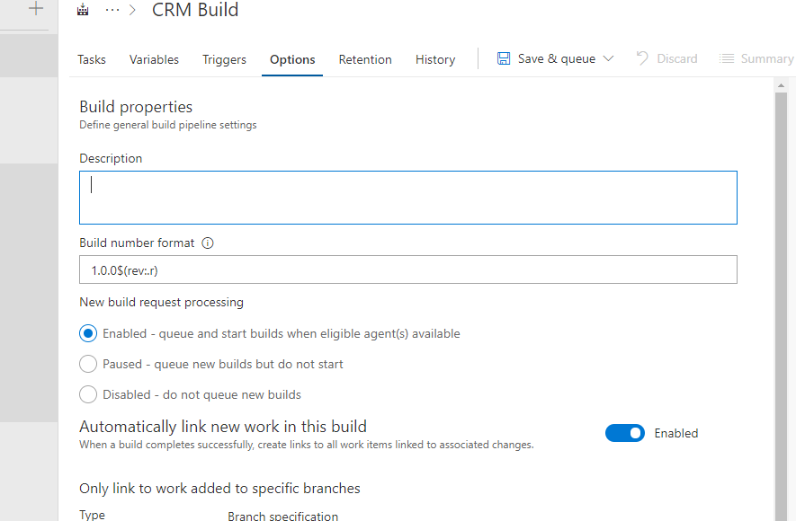 Setting up basic Build Automation for Dynamics CRM in VSTS